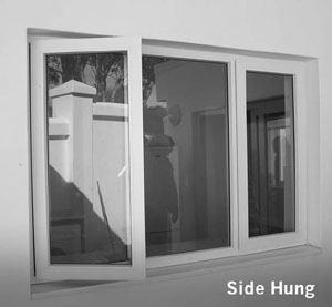 upvc side hung window